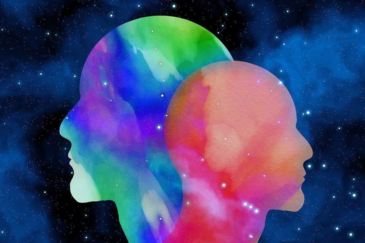 head, watercolor, background