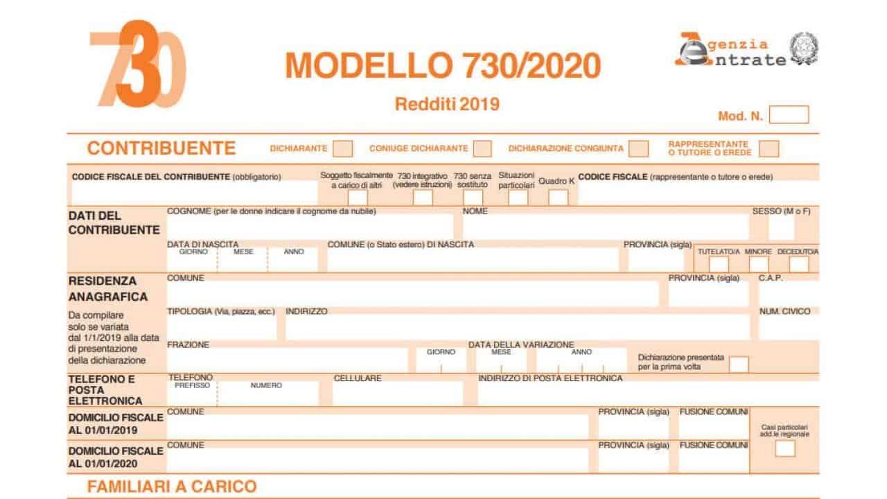 Servizio Fiscale 730 2020